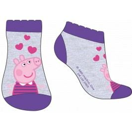 E plus M Dívčí ponožky Peppa Pig - modro-šedé