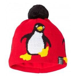 O'Style Dívčí čepice s tučňákem - oranžová