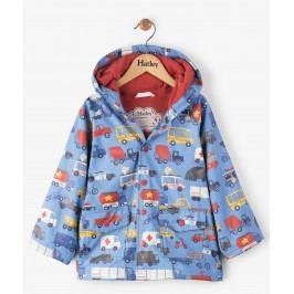 Hatley Chlapecký nepromokavý kabát s auty - modrý