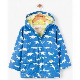 Hatley Chlapecký nepromokavý kabát měnící barvu s dinosaury - modrý