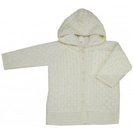 EKO Dívčí svetr s kapucí - béžový