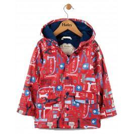 Hatley Chlapecký nepromokavý kabátek s nářadím - červený