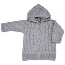 EKO Dívčí svetr s kapucí - šedý