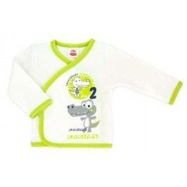 Makoma Chlapecký zavinovací kabátek Krokodýl - bílý
