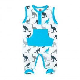 Makoma Chlapecké dupačky Kangaroo - modro-bílý