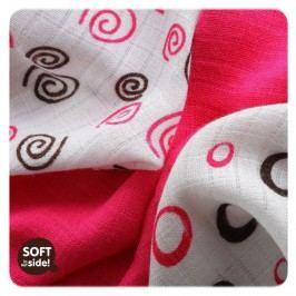 XKKO Bambusové ubrousky Spirals&Bubbles 30x30 cm, 9ks, Magenta mix