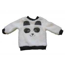 Carodel Chlapecká chlupatá mikina Panda - bílá