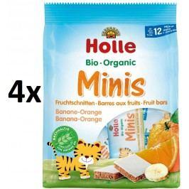 Holle BIO minis banánovo pomerančové 4x(8x12,5g)