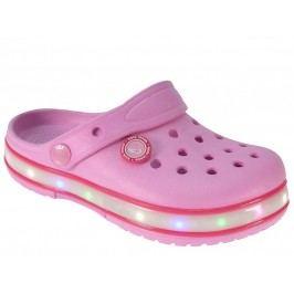 Beppi Dívčí svítící sandály - růžové