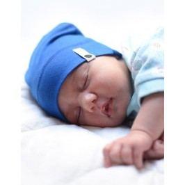 Lamama Dětská novorozenecká čepice - modrá