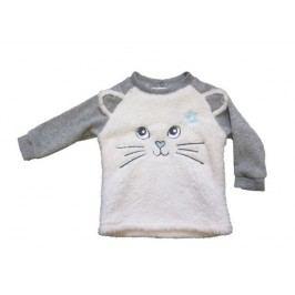 Carodel Dívčí mikina s kočičkou - šedá