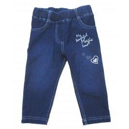 Carodel Dívčí kalhoty se srdíčkem - modré