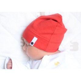 Lamama Dívčí novorozenecká čepice - červená