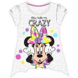 E plus M Dívčí tričko Minnie - šedé