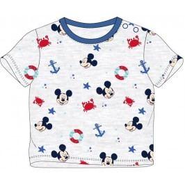 E plus M Chlapecké tričko Mickey Mouse - šedé