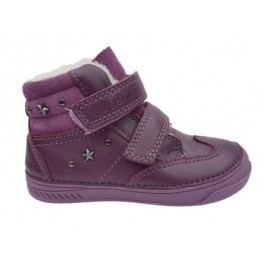 D.D.step Dívčí zateplené kotníkové boty - fialové