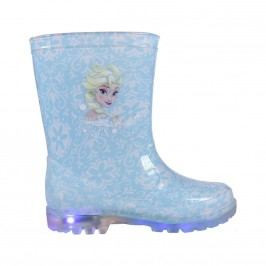 Disney Brand Dívčí svítící holínky Frozen - modré