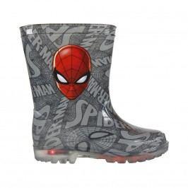 Disney Brand Chlapecké svítící holínky Spiderman - šedé
