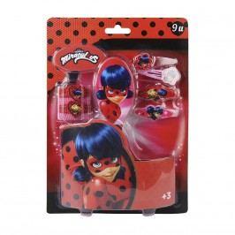Disney Brand Dívčí sada vlasových doplňků Ladybug - červená