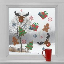 Housedecor Samolepky na sklo Vánoční symboly