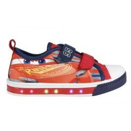 Disney Brand Chlapecké blikací tenisky Cars - červeno-modré