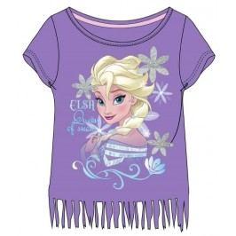 E plus M Dívčí tričko Frozen - fialové