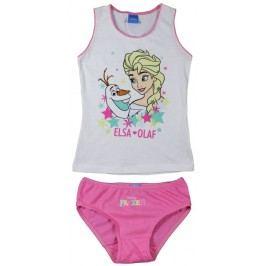 E plus M Dívčí set tílka a kalhotek Frozen - bílo-růžový
