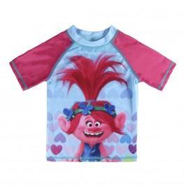 Disney Brand Dívčí plavecké tričko Trollové - barevné