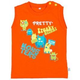 MMDadak Chlapecké tílko Pretty Monster - oranžové