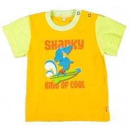 MMDadak Chlapecké tričko Shark - žluté