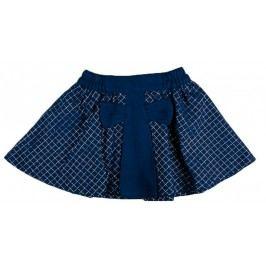 MMDadak Dívčí károvaná sukně s mašlí - tmavě modrá