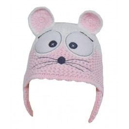 EKO Dívčí čepice Myška - růžová
