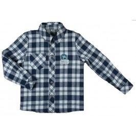 MMDadak Chlapecká kostkovaná košile - šedá