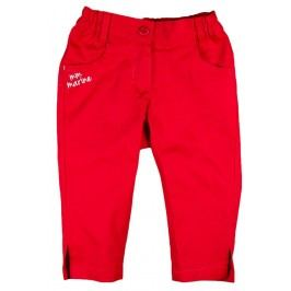 MMDadak Dívčí kalhoty Lodička - červené