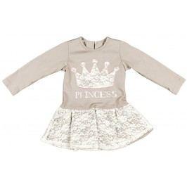 MMDadak Dívčí šaty Princess - béžové