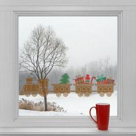 Housedecor Samolepky na sklo Perníčkový vlak