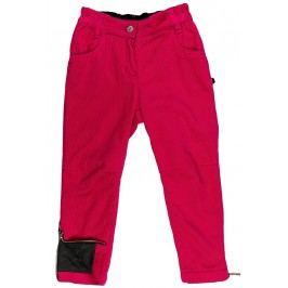 MMDadak Dívčí kalhoty Black Star - červeno-růžové