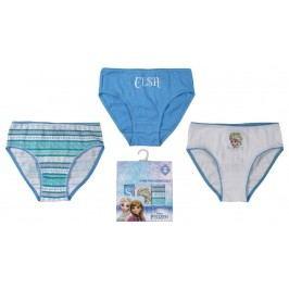 E plus M Dívčí set 3ks kalhotek Frozen - bílo-modrý