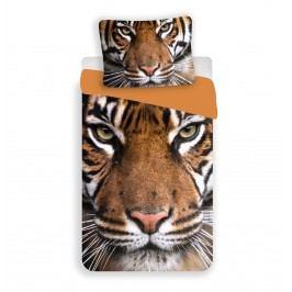 Jerry Fabrics Dětské oboustranné povlečení Tygr, 140x200/70x90 cm - barevné