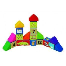 K's Kids Sada veselých látkových kostek, 12 kostek a 8 trojúhelníků