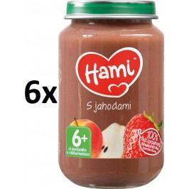 Hami Příkrm s jahodami bez cukru, 6x200g