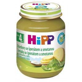 HiPP BIO Brambory se špenátem a se smetanou 6x125g
