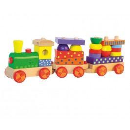 WOODY Skládací vlak s potiskem, světlem a zvukem - dva vagony