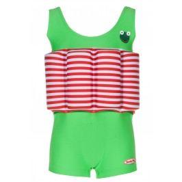 Beverly Kids Chlapecké nadnášející plavky Frogboy - zeleno-červené