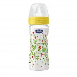 Chicco Láhev bez BPA Well-Being silikonový dudlík, střední, zelená 250 ml