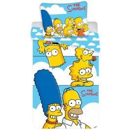 Jerry Fabrics Povlečení The Simpsons family 140x200/70x90