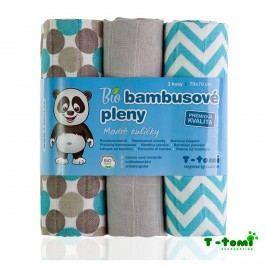 T-tomi Bambusové pleny, sada 3 ks, modré kuličky