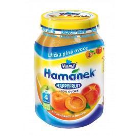 Hamánek HAPPYFRUIT 100% ovoce s meruňkami s broskví 6x190g