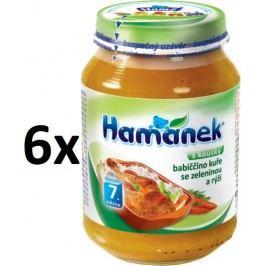 Hamánek babiččino kuře se zeleninou a rýží 6x190g