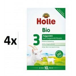 Holle BIO dětská mléčná výživa na bázi kozího mléka 3 - 4x400g